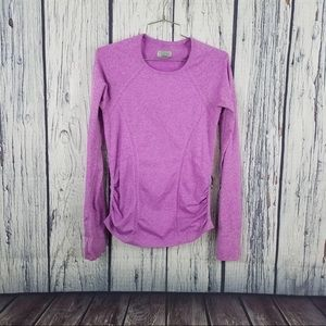 ATHLETA Ruched Seamless Long Sleeve Pullover Small